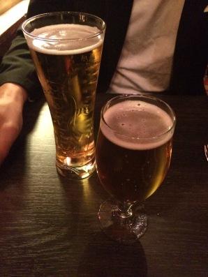 Och kall öl är så gott efter ett långt lopp!